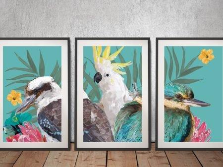 Framed Karin Roberts 3-Piece Canvas Art