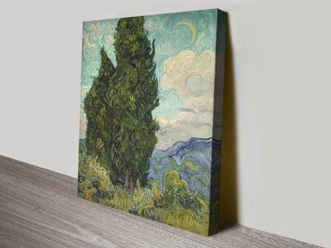 Buy Cypresses Van Gogh Print on Canvas