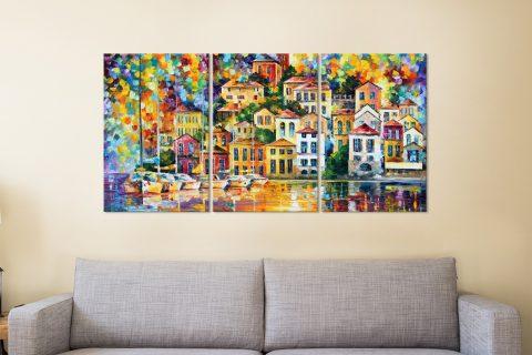 Atmospheric Afremov Split Panel Wall Art