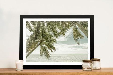 Framed Vintage Ocean View Print for Sale AU
