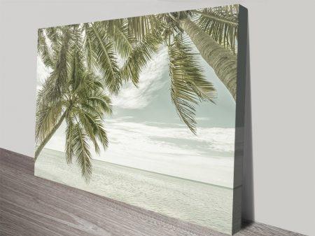 Florida Vintage Ocean ViewWall Art