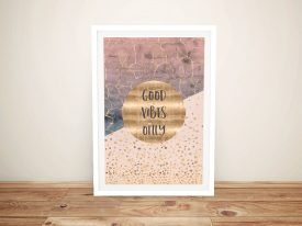Good Vibes Only Framed Graphic Art Print