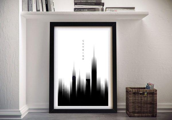 Framed Sky High Graphic Melanie Viola Art