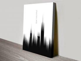 Sky High Graphic Monochrome Print
