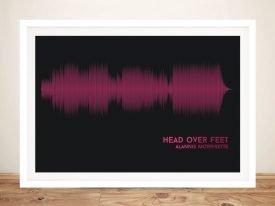 Head Over Feet Soundwave Wall Art