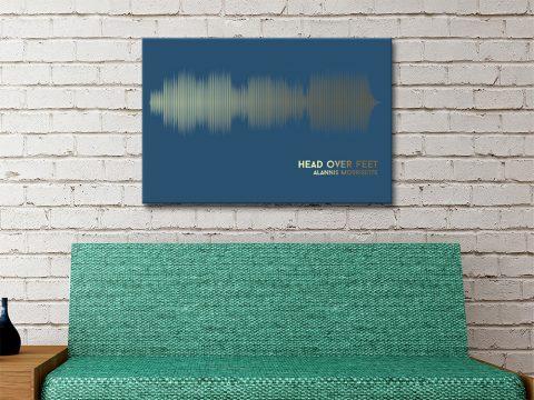 Head Over Feet Soundwave Print on Canvas