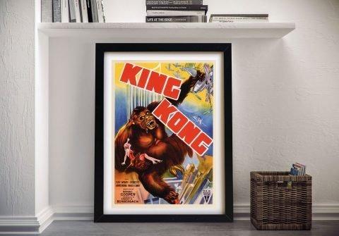 King Kong Vintage Film Poster Ready to Hang