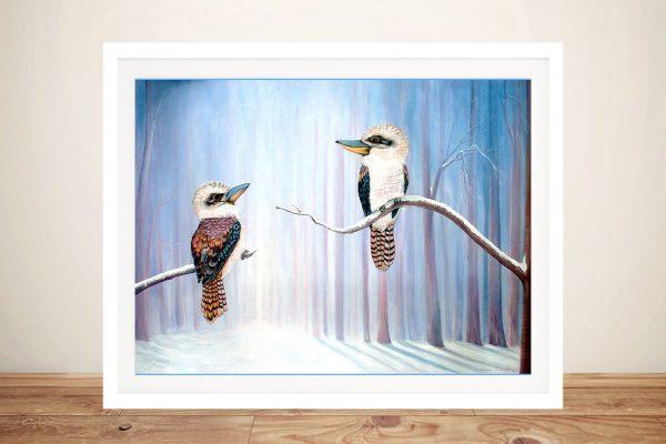 Framed Kookaburra Painting Print for Sale