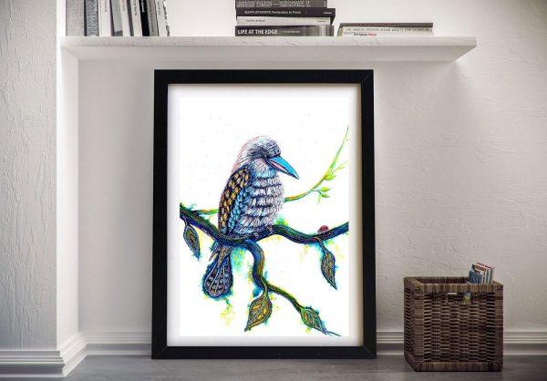 Kookaburra and the Visitor Framed Print AU