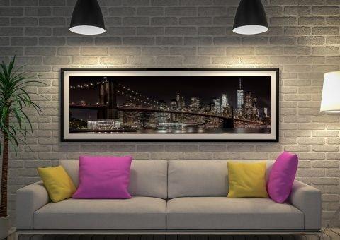 Manhattan Skyline & Brooklyn Bridge Artwork