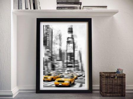 Times Square Modern Art Print on Canvas