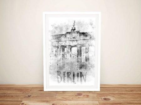 Brandenburg Gate Berlin Watercolour Print