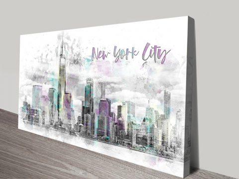 Manhattan Skyline Artwork Home Decor AU