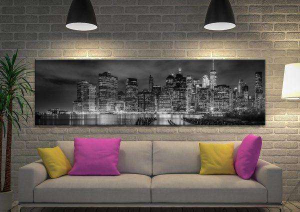 NYC Monochrome Panoramic Skyline Print