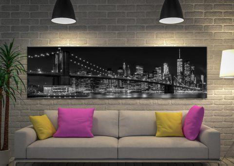 NYC Monochrome Skyline Melanie Viola Art