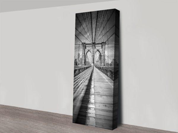 Monochrome Upright Panoramic NYC Art