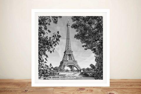 Framed Monochrome Eiffel Tower Art AU