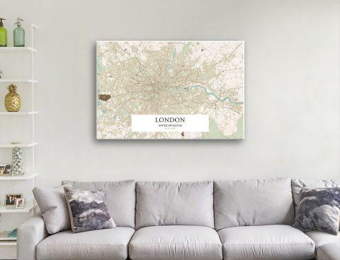 Detailed Retro Style Maps Gift Ideas AU