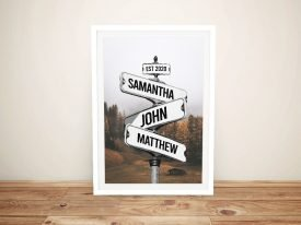Forest Personalised Signpost Print on Canvas
