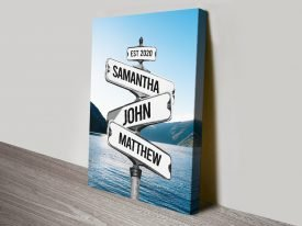 Buy a Custom Signpost with Lake Print