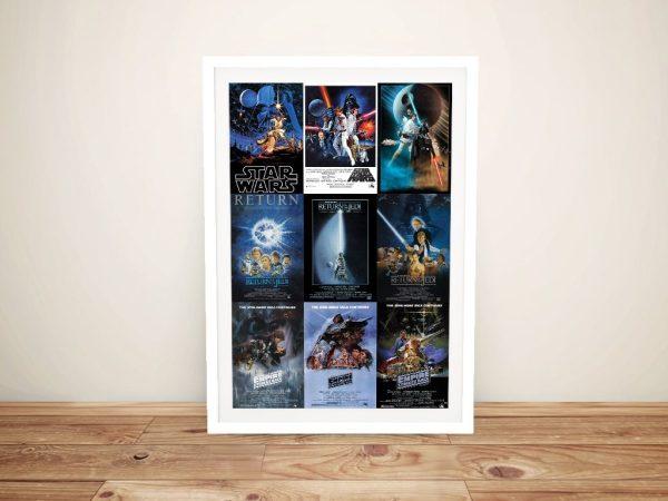 Star Wars Poster Montage Framed Art