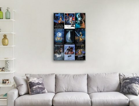 Star Wars Movie Poster Montage Gift Ideas AU