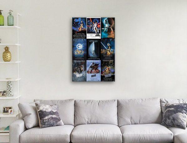 Star Wars Movie Poster Montage Gift Ideas AU
