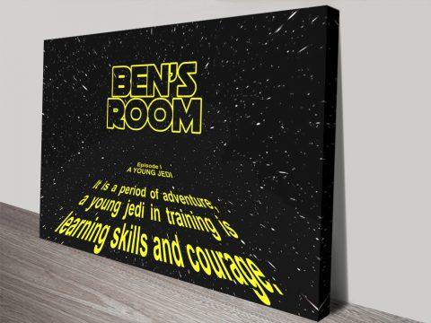 Custom Star Wars Wall Art Gift Ideas AU