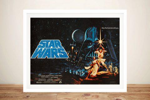 Framed Vintage Star Wars Posters Online