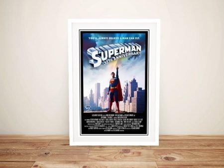Superman Movie Poster Framed Print