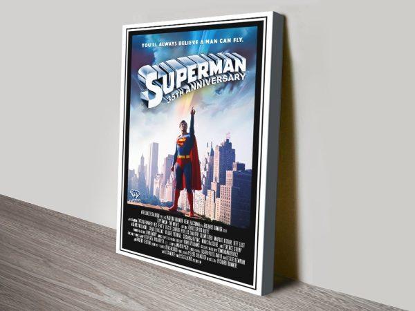 Superman The Movie Canvas Print