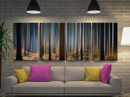 Tall Trees Landscape Split Panel Art Set