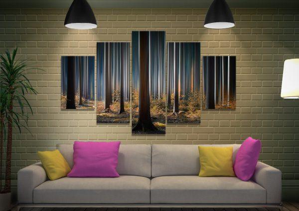 Tall Trees Split-Diamond Wall Art Cheap Online