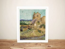 The Old Mill Framed Van Gogh Canvas Art