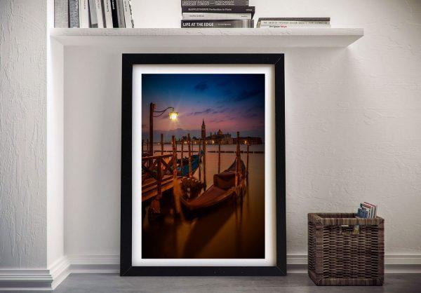 Framed Venice Blue Hour Art Gift Ideas Online