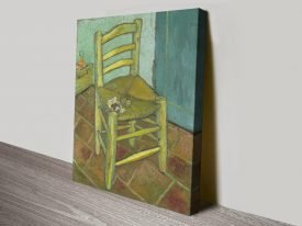 Van Gogh's Chair Quality Canvas Print