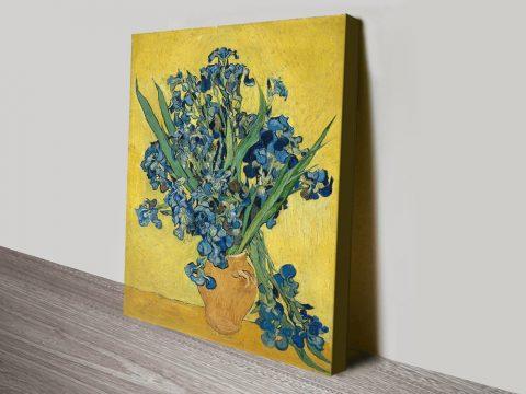 Buy Vase with Irises Still Life Wall Art