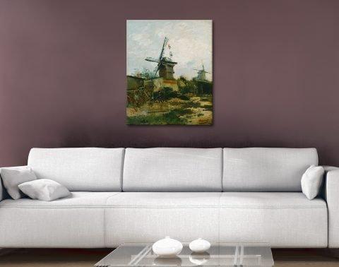 Windmills on Montmartre Wall Art