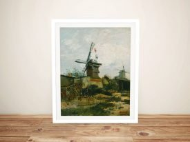 Windmills on Montmartre Van Gogh Print