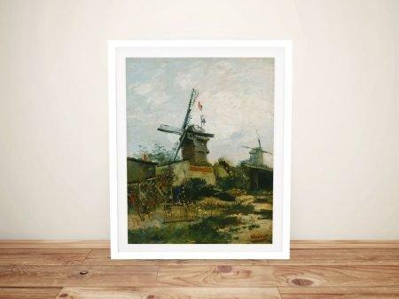 Windmills on Montmartre Van Gogh Print