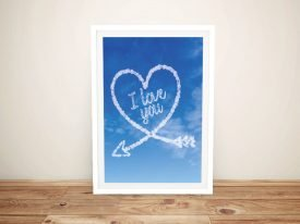 Framed Arrow Heart Cloud Writing Art