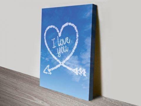 Personalised Romantic Cloud Wall Art