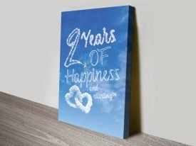 Happiness in the Clouds Personalised Art
