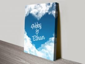 Cloud Heart Personalised Canvas Print
