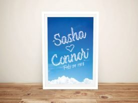 Buy a Framed Names in the Clouds Print