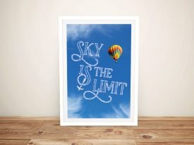 Sky is the Limit Custom Quote Wall Art
