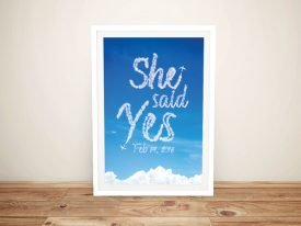 Writing in the Clouds She Said Yes Print