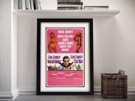 Goldfinger & Dr No Vintage 007 Poster