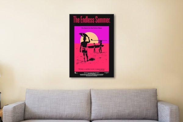 The Endless Summer Surf Movie Wall Art