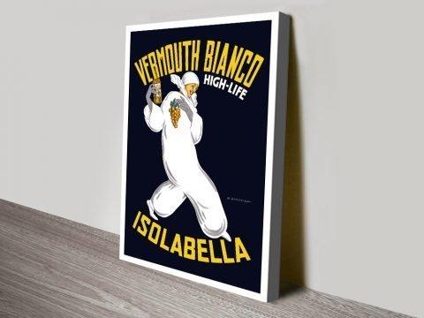 Vermouth bianco canvas print